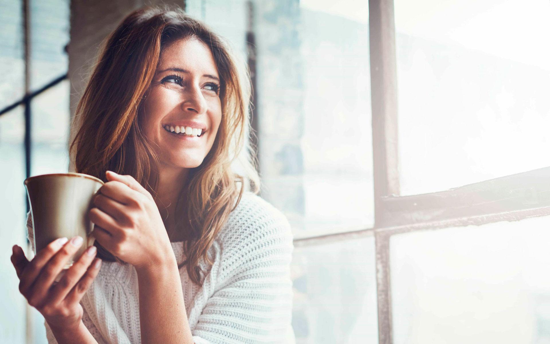 Smiling CBD woman